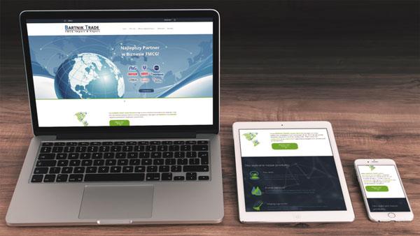 Strona internetowa dla firmy Bartnik-Trade