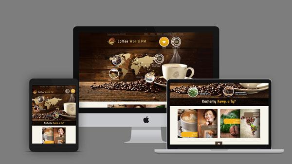 Strona internetowa dla firmy CoffeeWorld