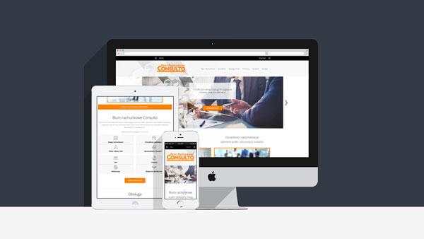 Strona internetowa dla firmy Consulto