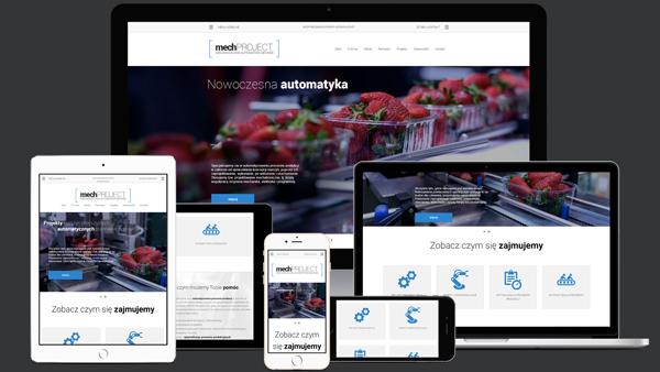 Strona internetowa dla firmy MechProject