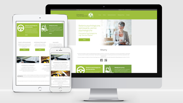 Strona internetowa dla Pracowni Psychologicznej