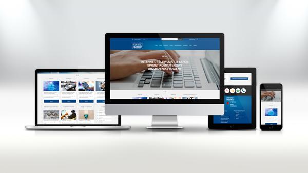 Strona internetowa dla firmy RWD Prospect