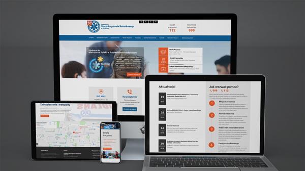 Strona internetowa dla Stacji Pogotowia Ratunkowego