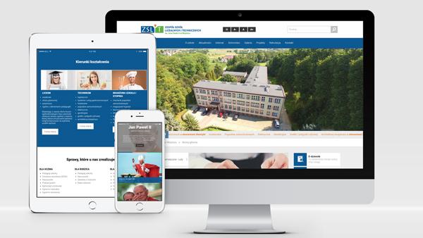Strona internetowa dla ZSLiT w Wojniczu